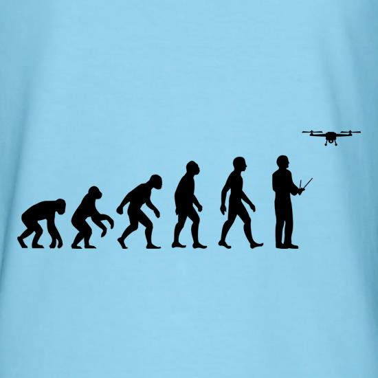 Evolution Of Man Droning t-shirts