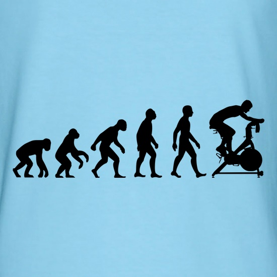 Evolution Of Man Spin t-shirts