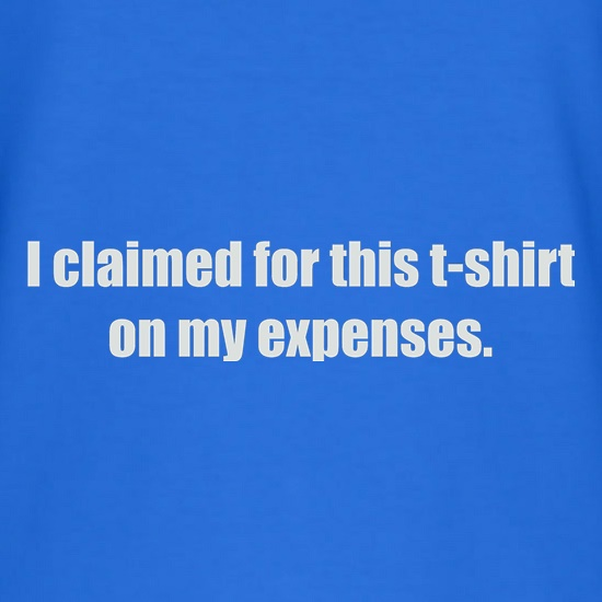 I Claimed For This T-Shirt On My Expenses t-shirts