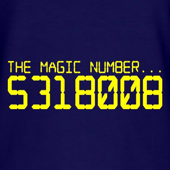 The magic number is Boobies t-shirts