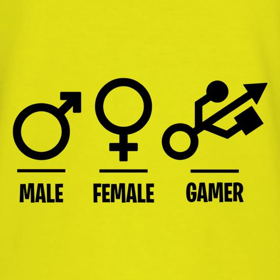Male/Female/Gamer t-shirts