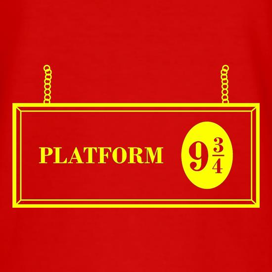 Platform Nine And Three Quarters t-shirts