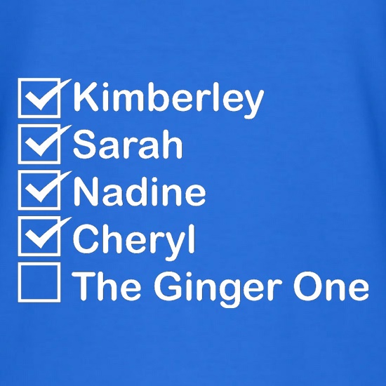 The Ginger One t-shirts