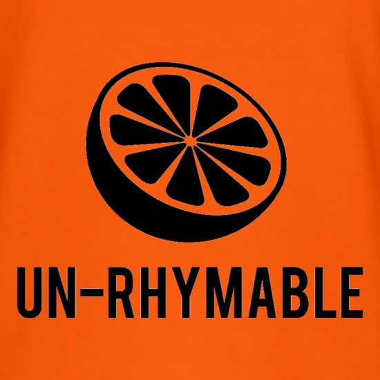Un-Rhymable t-shirts