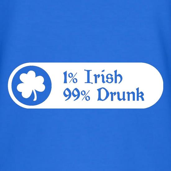 8f8430e3c774 1% Irish 99% Drunk V-Neck T-Shirts ...