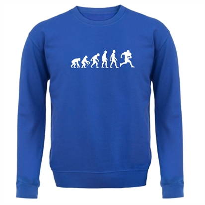 f0b70066 Evolution Of Man American Football Jumper By CharGrilled