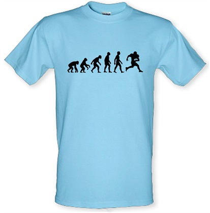 0c281a84 Evolution Of Man American Football T Shirt By CharGrilled