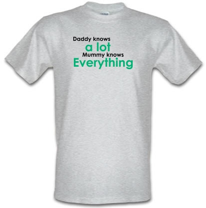 e1f515e7 Daddy Knows a Lot But Mummy Knows Everything T Shirt By ...