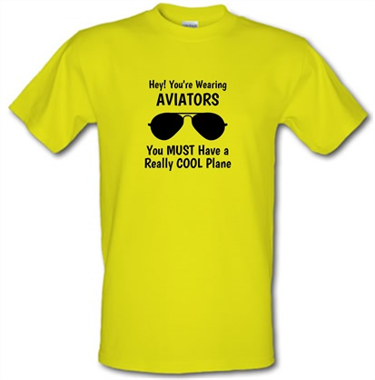 b3903059 Hey! you're wearing aviators, you must have a really cool plane. T Shirt