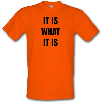 df29e9e9 It Is What It Is Quote T Shirt By CharGrilled