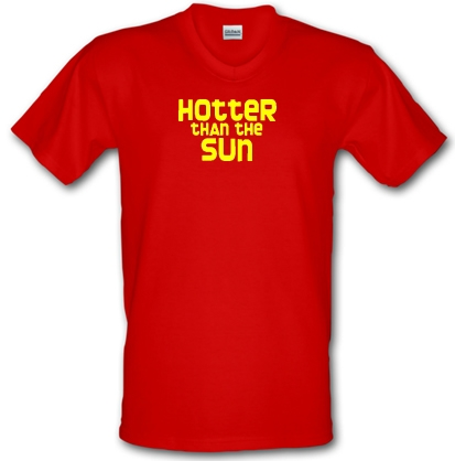 8bb6791458424f Hotter Than The Sun V-neck T Shirt By CharGrilled