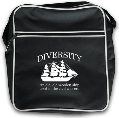 Diversity An Old Old Wooden Ship Used In The Civil War Era Bag By Chargrilled