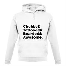 Chubby Tattooed Bearded And Awesome t shirt