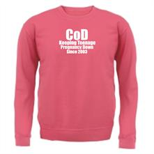 CoD Keeping Teenage Pregnancy Down Since 2003 t shirt