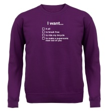 I Want... Queen Lyrics t shirt