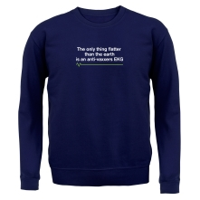 The Only Thing Flatter Than The Earth t shirt