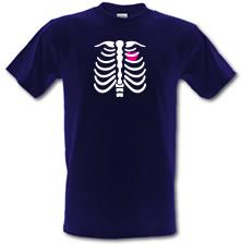 Pink Heart Skeleton t shirt