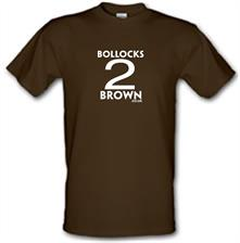 Bollocks 2 Brown t shirt