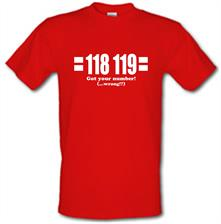 118 119 Got Your Number...(Wrong?!) t shirt