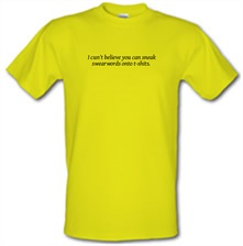 I cun't believe you can sneak swearwords onto t-shits. t shirt