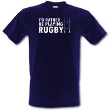 I'd Rather Be Playing Rugby t shirt