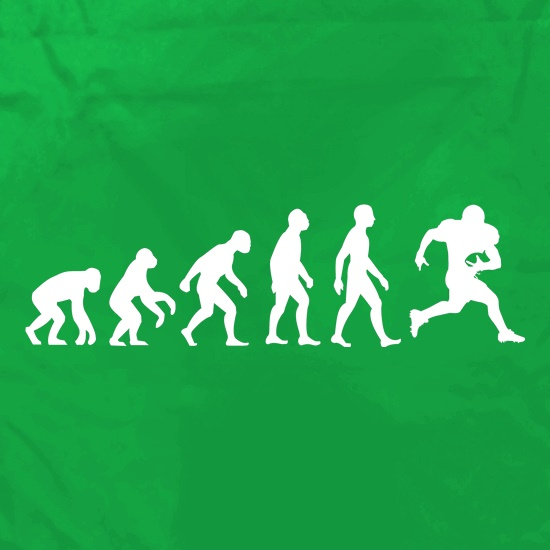 Evolution Of Man American Football t shirt