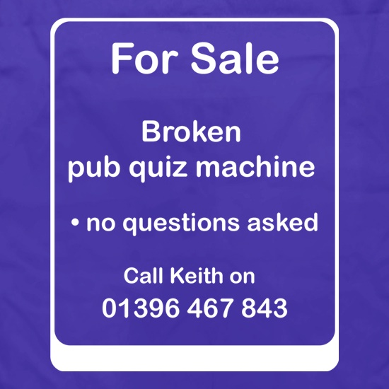 Broken Pub Quiz Machine t shirt