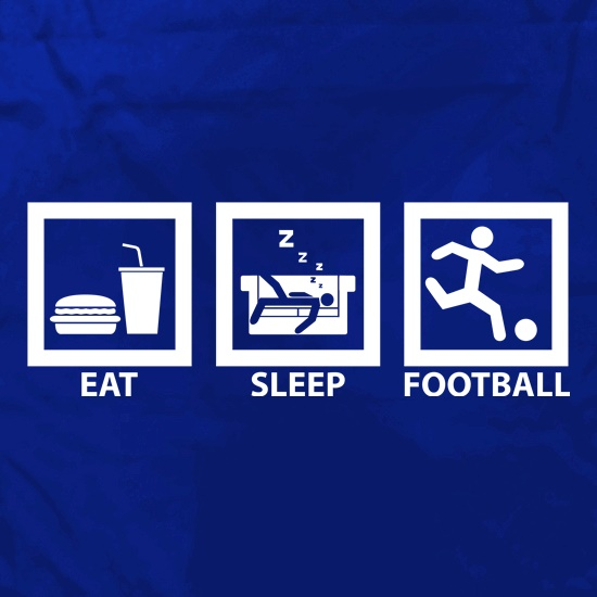 Eat, Sleep, Football t shirt