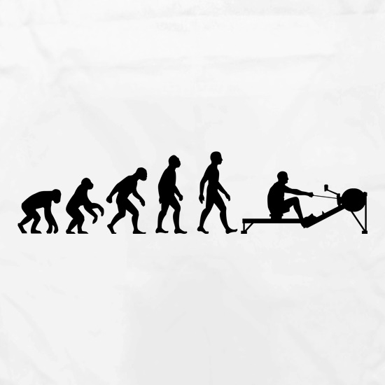 Evolution of Man Rowing Machine t shirt
