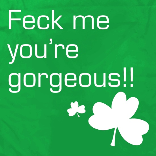 Feck me you're gorgeous t shirt