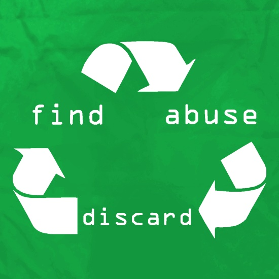 Find > abuse > discard t shirt