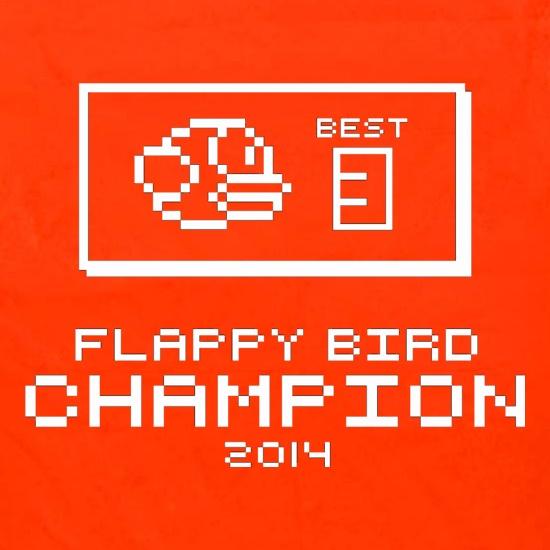 8ea98d086b0fd9 Flappy Bird Champion t shirt ...