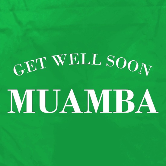 Get Well Soon Muamba t shirt