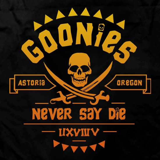 Goonies Never Say Die t shirt