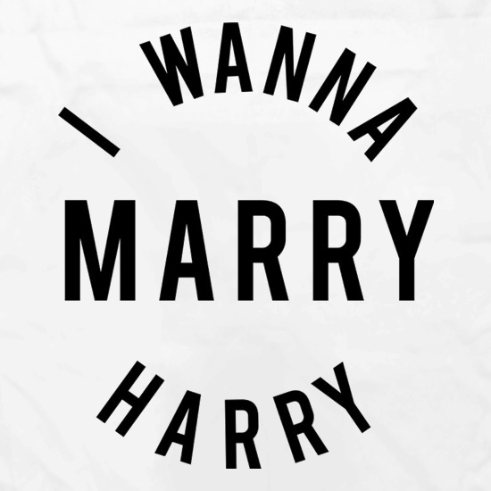 I Wanna Marry Harry t shirt