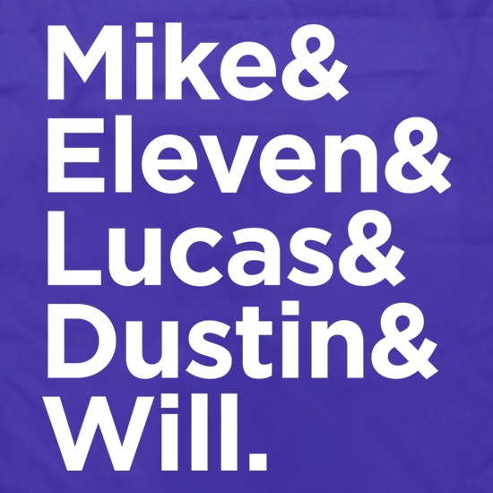 Mike & Eleven & Lucas & Dustin & Will t shirt