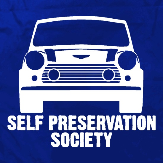 Self Preservation Society t shirt
