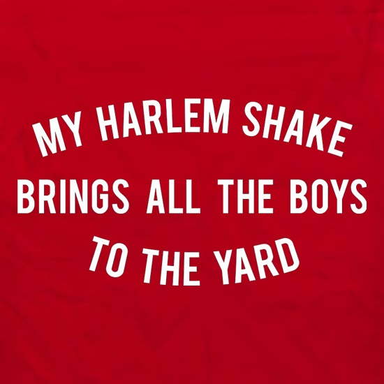 My Harlem Shake Brings All The Boys To The Yard t shirt