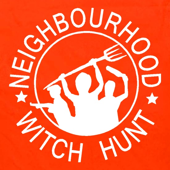 Neighbourhood witch hunt t shirt