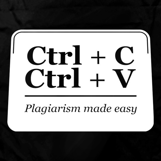 Plagiarism Made Easy t shirt