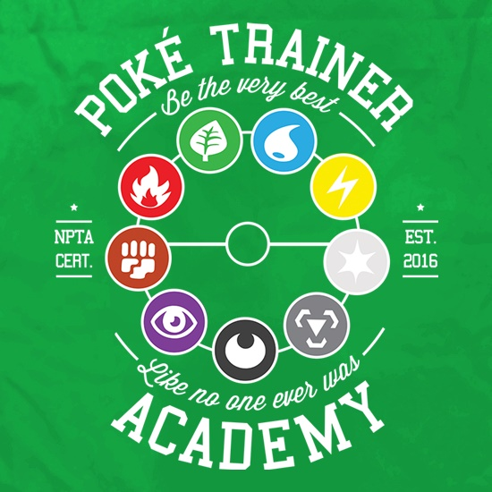 Poke Trainer Academy t shirt
