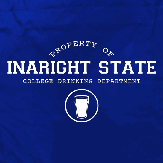 Property Of Inaright State College Drinking Department t shirt