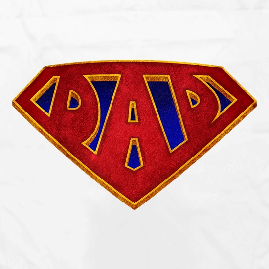 Super Dad Badge t shirt