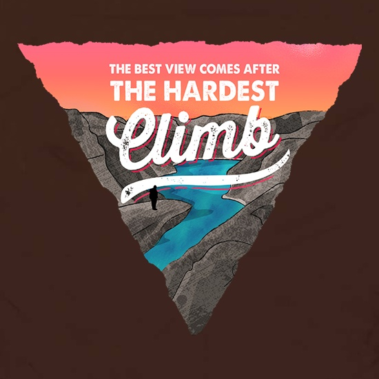 The Best View Comes After The Hardest Climb t shirt