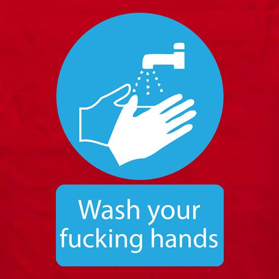 Wash Your FUCKING Hands Logo t shirt