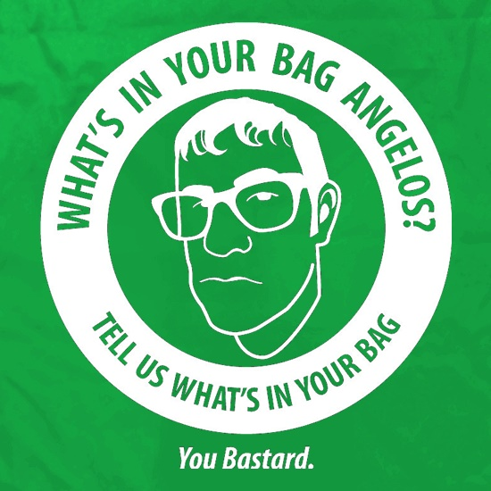 What's In Your Bag Angelos? t shirt