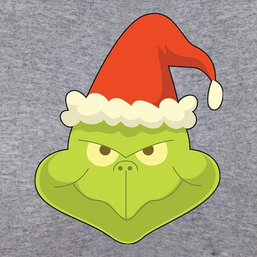 Grinch Face Classic Fit Mens Tee By Chargrilled