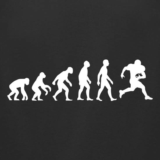 0bc869e9 ... or a passing play, prove that you're the pinnacle of man when you're on  the pitch with our awesome Evolution of Man American Football t-shirt.