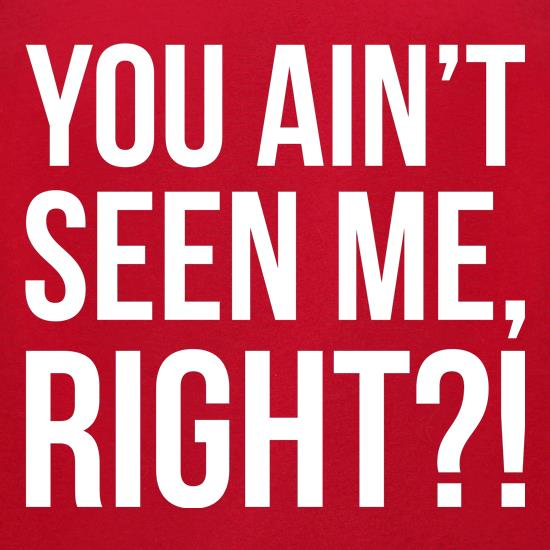 You Ain't Seen Me, Right?! t shirt