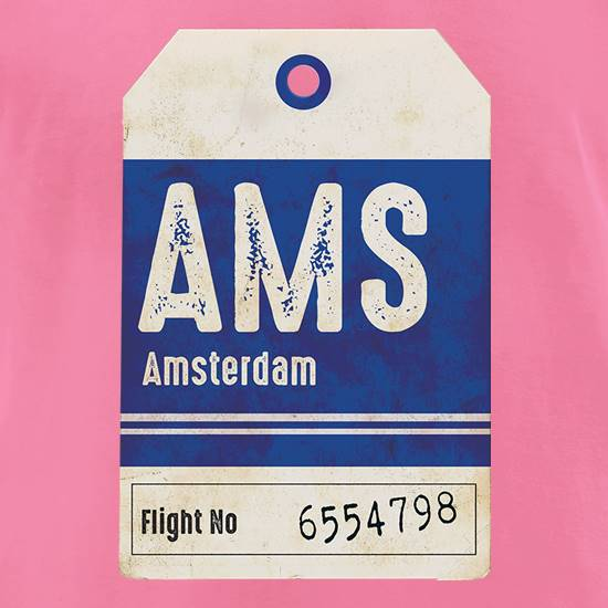 Amsterdam Luggage Tag t shirt